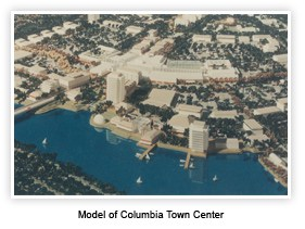 aerial Model of Columbia Town Center