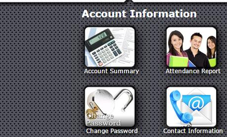 account info icons