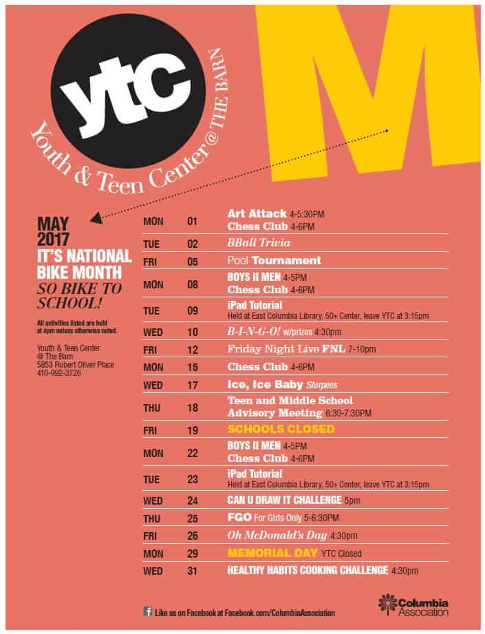 YTC May Programs Flyer Image 2017