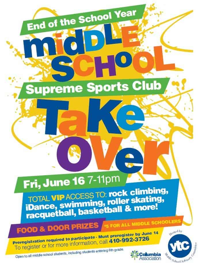 Middle School Take Over Flyer Image
