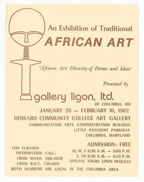 African Art exhibit