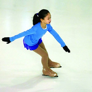 little girl skating on ice