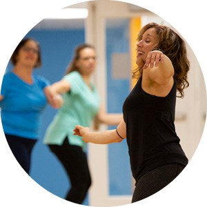 ladies dancing in group fitness class