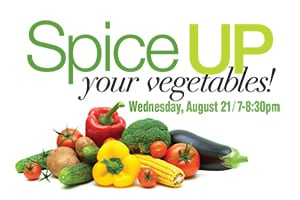 spice up your veegetables web block promotion