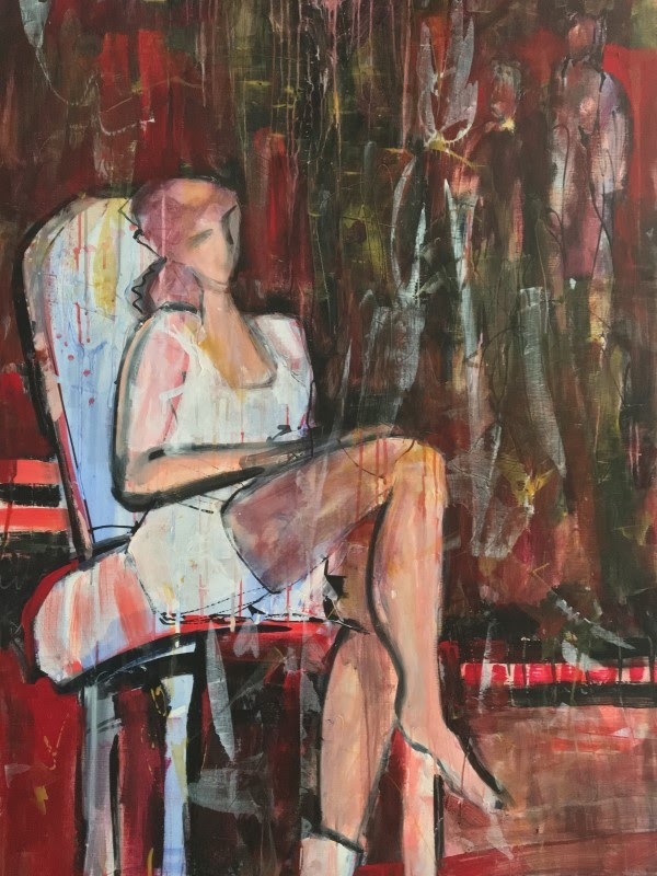 this seat is taken painting