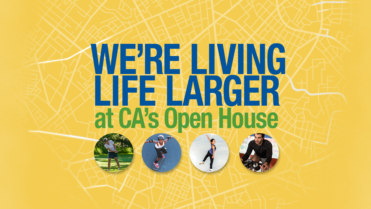 we're living life larger open house