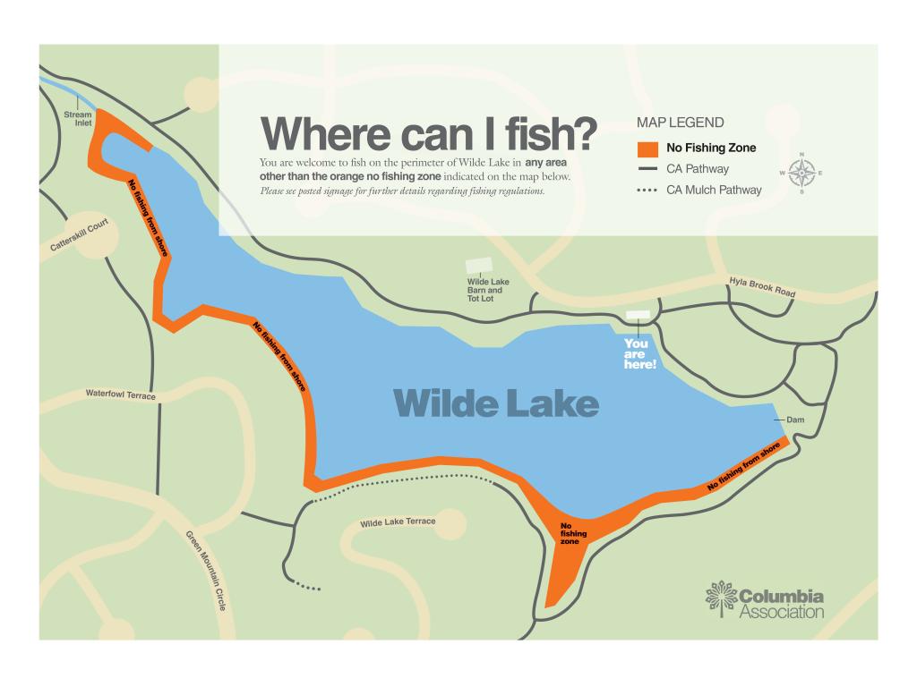 Wilde Lake Fishing Map