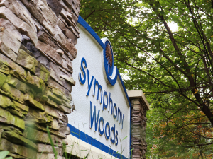 Symphony Woods Park sign
