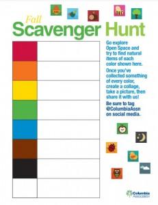 CA's Fall Scavenger Hunt