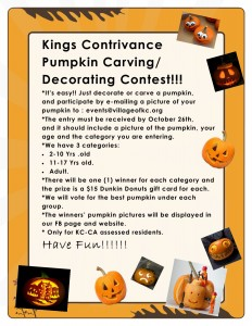 King's Contrivance pumpkin carving contest 2020