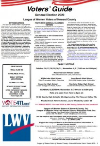 League of Women Voters of Howard County Voters' Guide