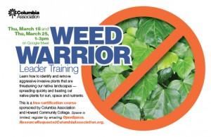 WeedWarriorLeaderTraining for March 2021