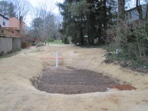 Finished bioretention at Faulkner Ridge Station