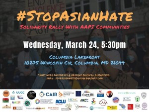Stop Asian Hate Rally invitation