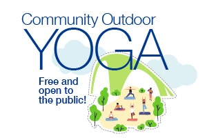 outdoor community yoga