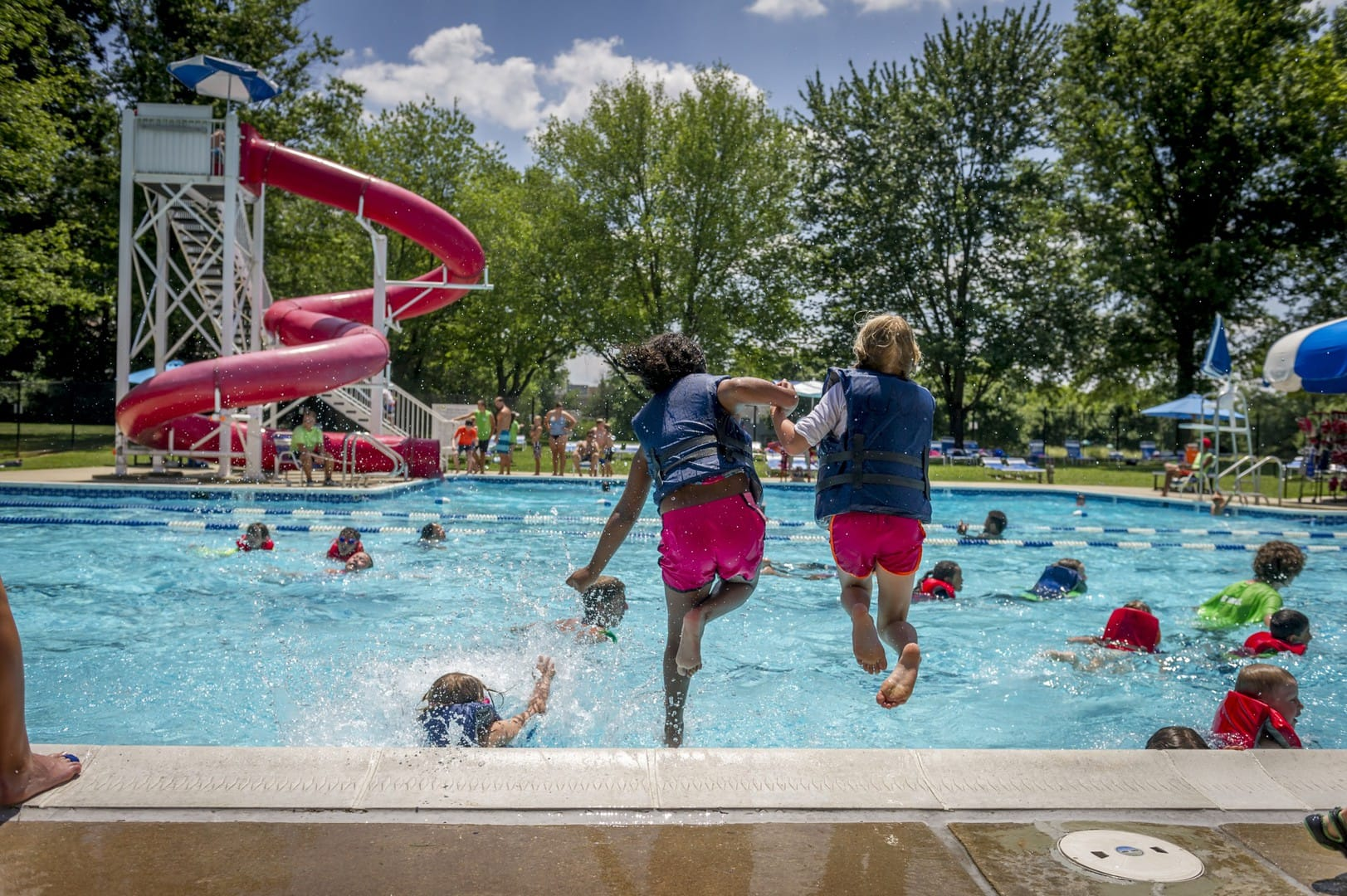 Outdoor swimming pool in columbia maryland